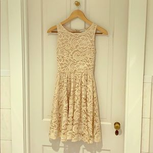Cream Soprano Lace Dress